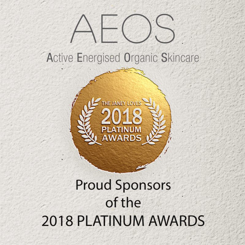 Sponsors of Janey Loves 2018 Platinum Awards – AEOS