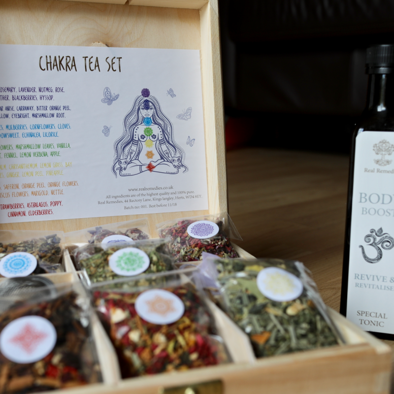 Win a Real Remedies Chakra Tea Set and a Body Boost Power Tonic worth £42.50