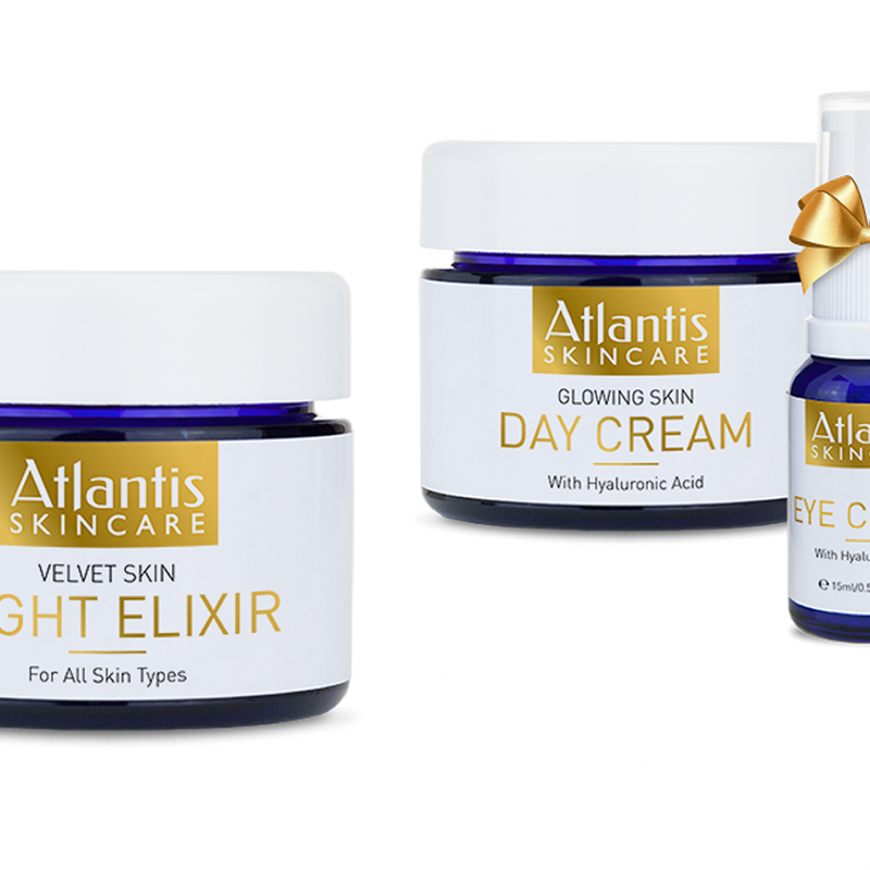 Win these fantastic Day, Night and Eye creams from Atlantis Skincare worth £165!
