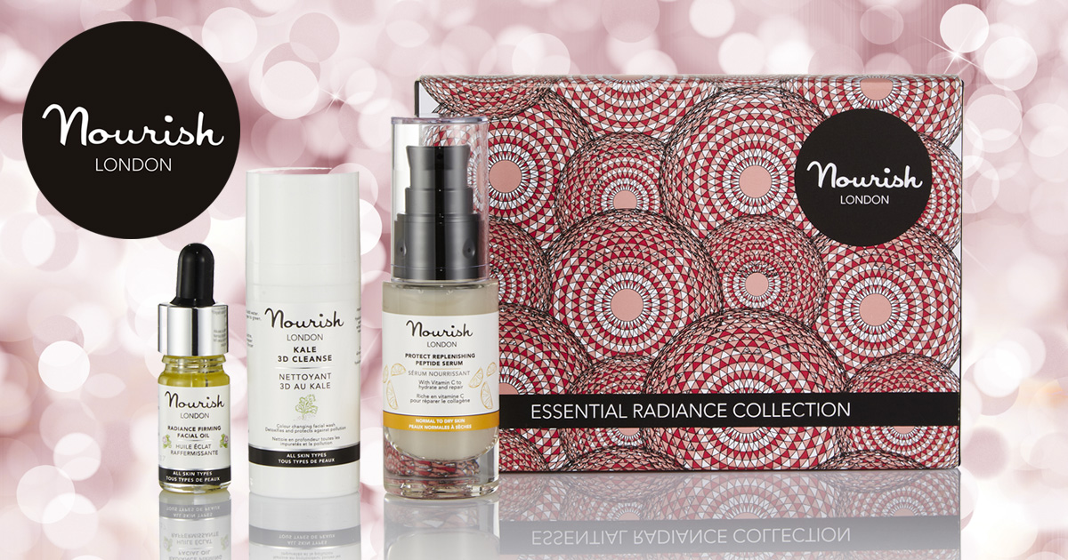 Win 1 of 2 Nourish London Essential Radiance Collection Gift Sets worth £30