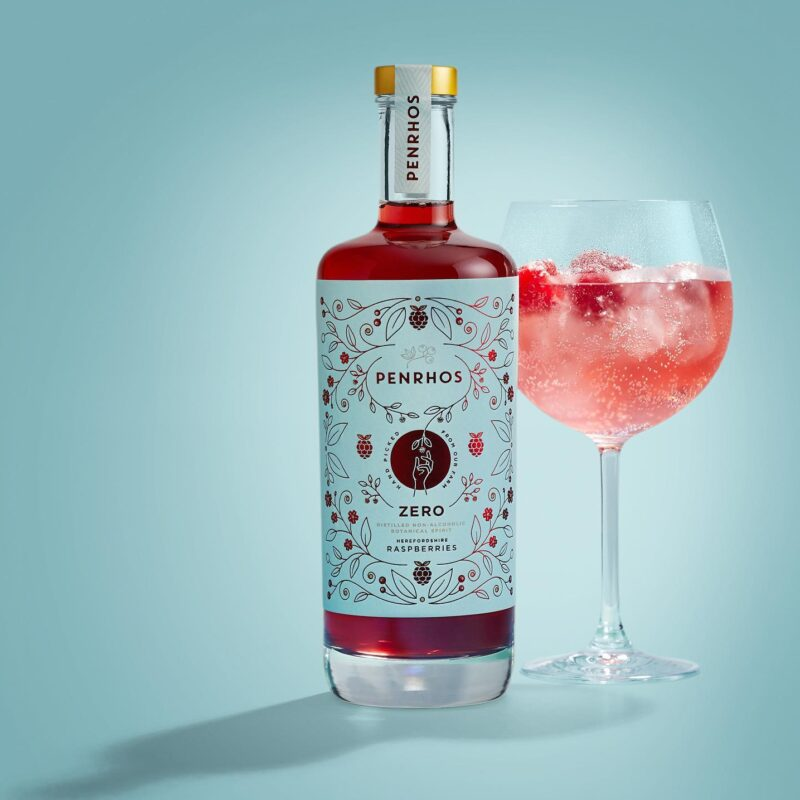 The perfect drink if you don't drink…. Penrhos Zero Raspberry!