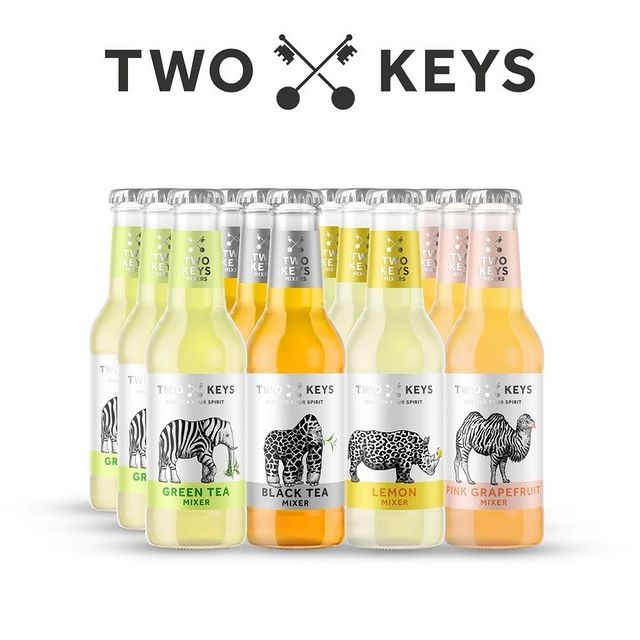 Unlock Your Spirit with Two Keys natural low calorie mixers!