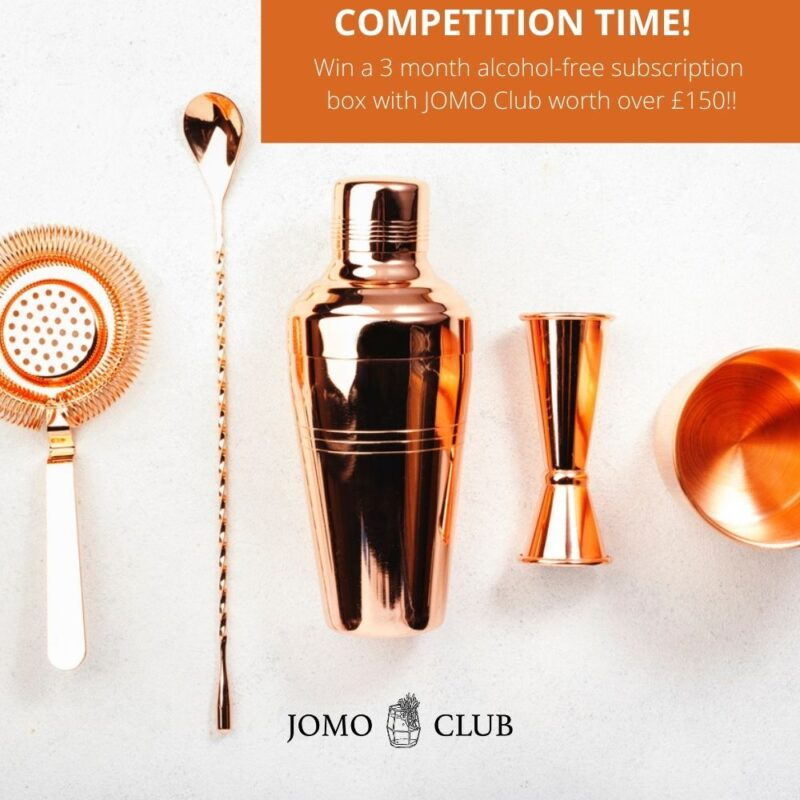 Win a 3 month alcohol-free subscription box from JOMO Club worth over £150!!