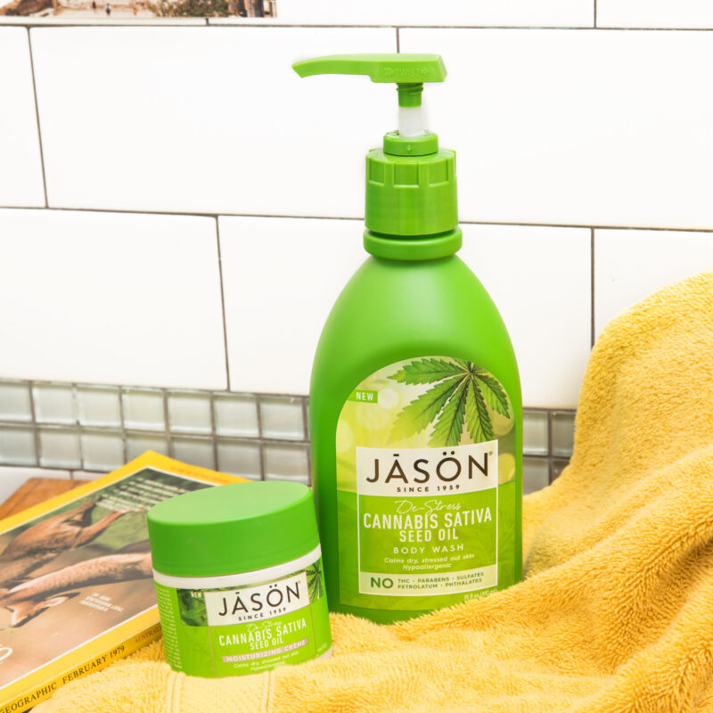 Win 1 of 3 De-Stress Cannabis Sativa Body Care Sets from JASON!