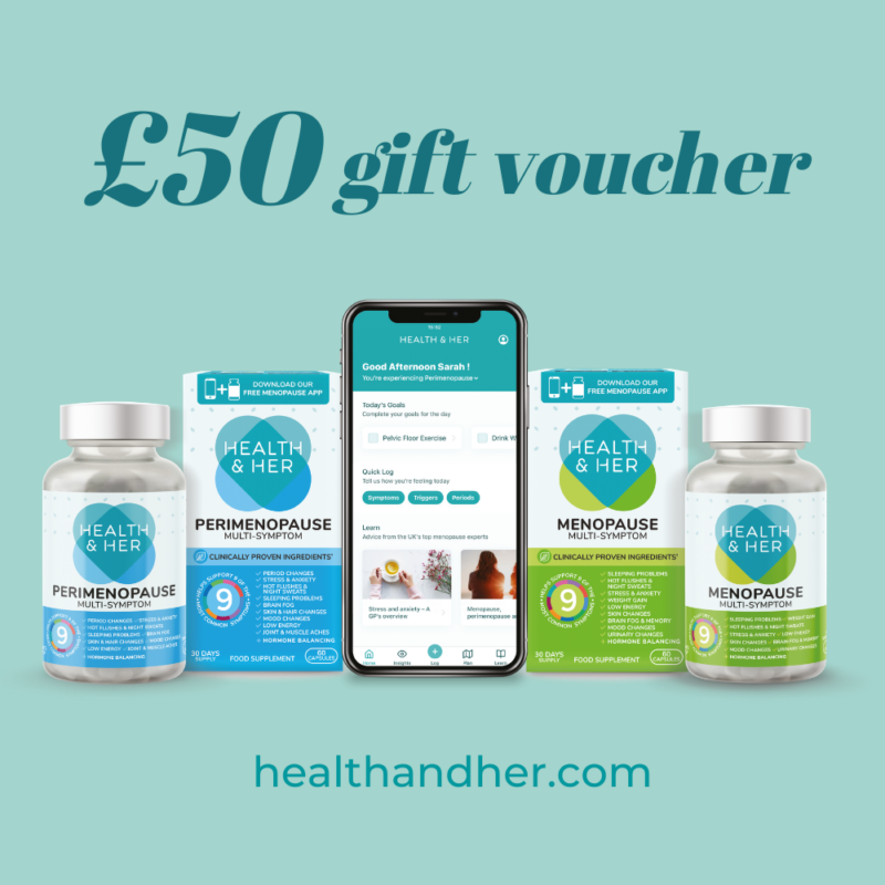 Win a £50 voucher for the Health & Her Website