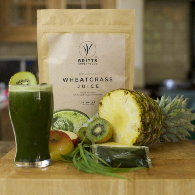 Win a month's supply of Britt's Superfoods organic Wheatgrass Juice!
