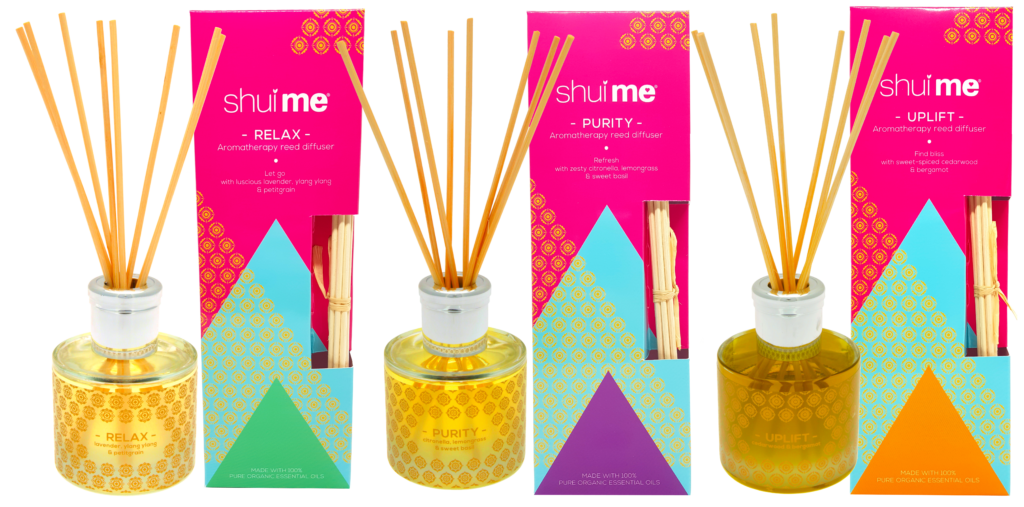 WIN 1 of 3 Shui Me® Organic, Luxury, Aromatherapy Reed Diffusers worth £45 each!