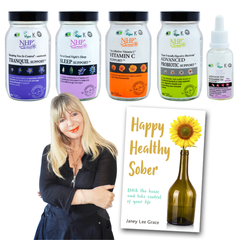 Win Janey's New Book and Natural Health Practice Supplements (worth £112)
