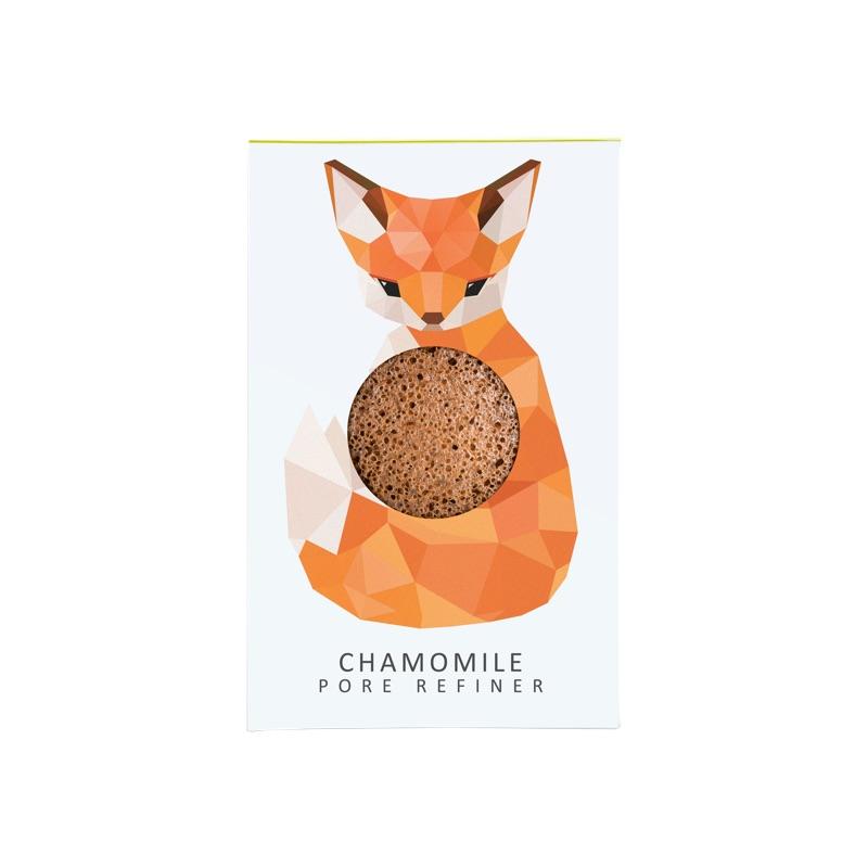 WC28-Woodland-Fox-Chamomile-Konjac-Sponge-Mini-Pore-Refiner-1