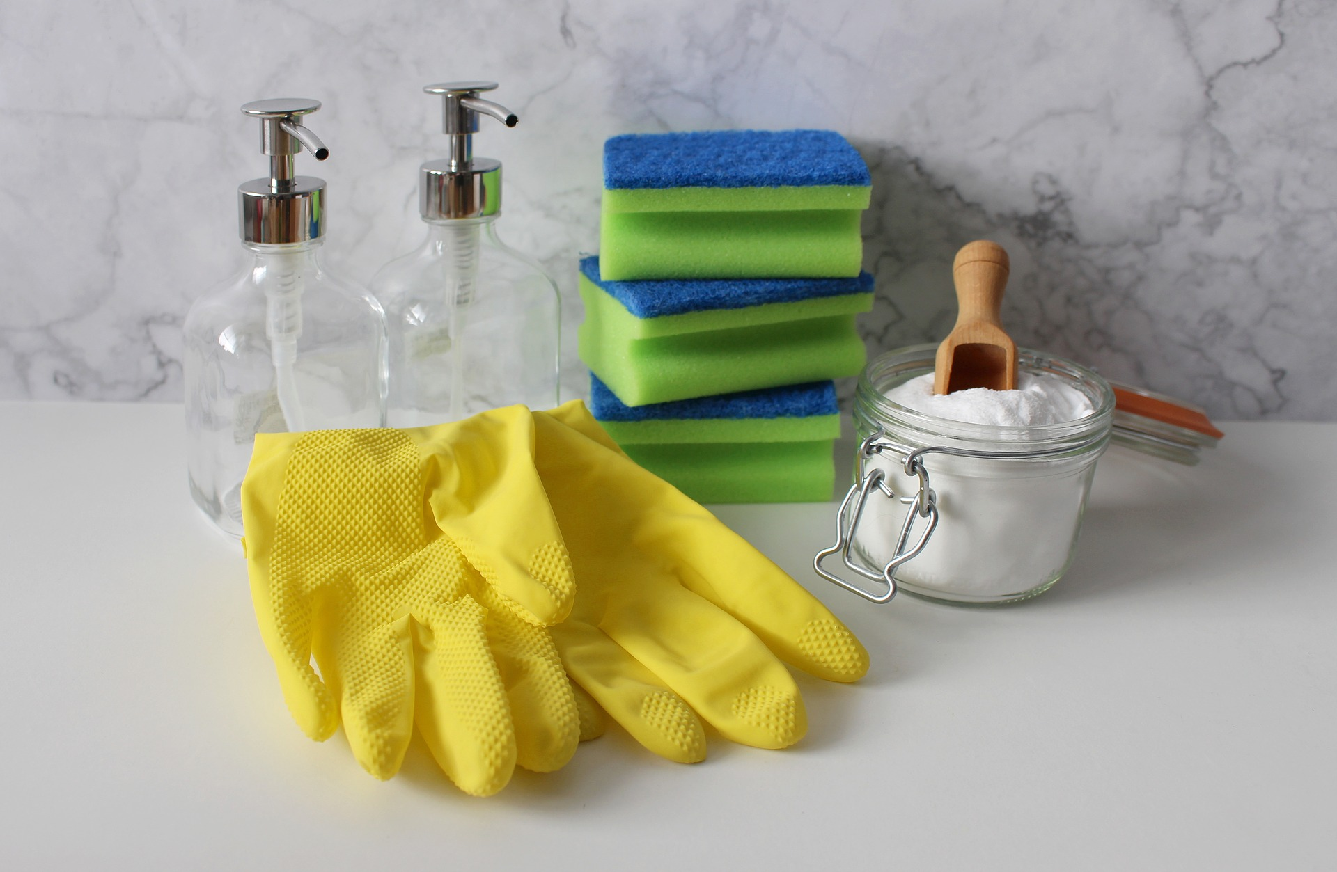 cleaning rubber gloves