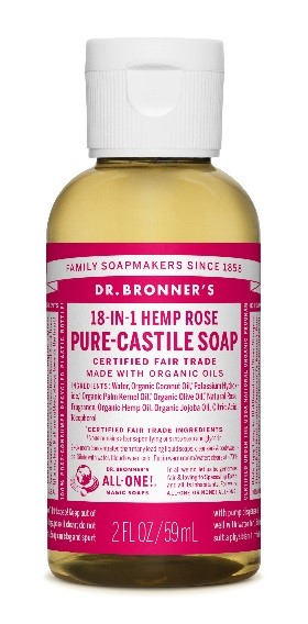 dr bronner rose castille soap