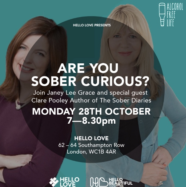Are you sober curious? Event with Janey and Clare Pooley