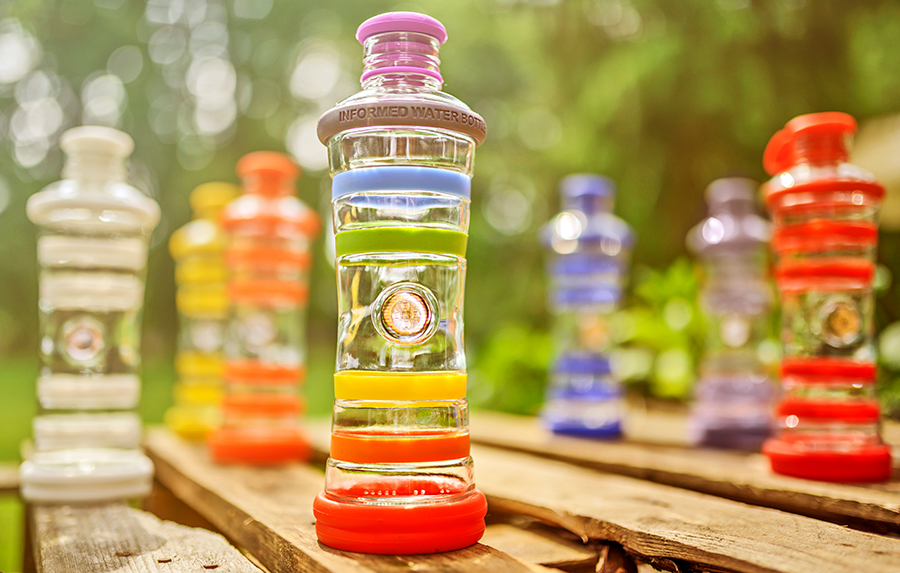WIN an i9 Chakra Glass Water Bottle from i9Living worth £44!